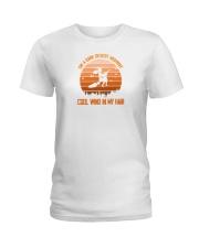 on a dark desert highway witch shirt Ladies T-Shirt thumbnail