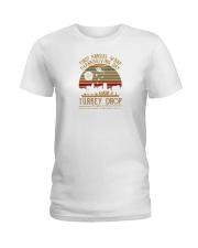 wkrp turkey drop shirt Ladies T-Shirt thumbnail