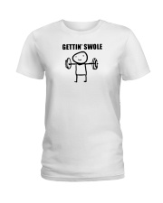 getting swole shirt Ladies T-Shirt thumbnail