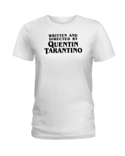 written and directed by quentin tarantino shirt Ladies T-Shirt thumbnail
