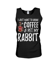 Rabbit Lover Coffee T-Shirt Funny Bunny Unisex Tank tile