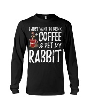 Rabbit Lover Coffee T-Shirt Funny Bunny Long Sleeve Tee tile