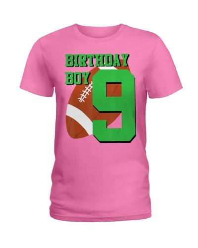 9th Birthday Football Boy  9 year old Fie