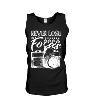 Photography Never Lose Focus Funny Camer Unisex Tank thumbnail