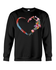 Quilting t-shirt sewing my heart love Crewneck Sweatshirt thumbnail