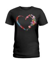 Quilting t-shirt sewing my heart love Ladies T-Shirt thumbnail