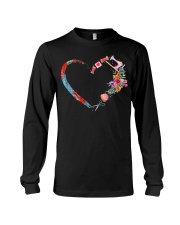 Quilting t-shirt sewing my heart love Long Sleeve Tee thumbnail