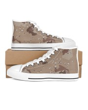 camouflage t shirt Women's High Top White Shoes thumbnail