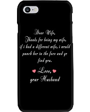 Dear Wife Thanks for Being My Wife Phone Case thumbnail