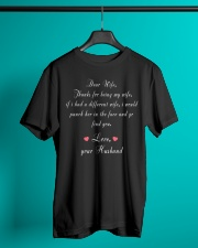 Dear Wife Thanks for Being My Wife Classic T-Shirt lifestyle-mens-crewneck-front-3