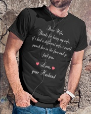 Dear Wife Thanks for Being My Wife Classic T-Shirt lifestyle-mens-crewneck-front-4