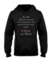 Dear Wife Thanks for Being My Wife Hooded Sweatshirt thumbnail