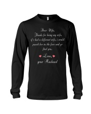 Dear Wife Thanks for Being My Wife Long Sleeve Tee thumbnail
