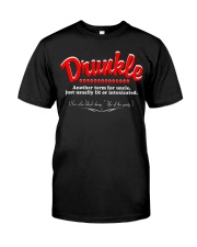 Drunkle drunk Uncle Funny T-shirt Classic T-Shirt front