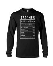 Teacher Gifts Teacher Nutritional Facts Label  Long Sleeve Tee thumbnail