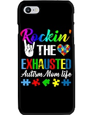 Rockin The Exhausted Autism Mom Life T-Shirt Phone Case thumbnail