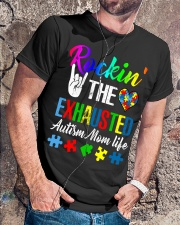 Rockin The Exhausted Autism Mom Life T-Shirt Classic T-Shirt lifestyle-mens-crewneck-front-4