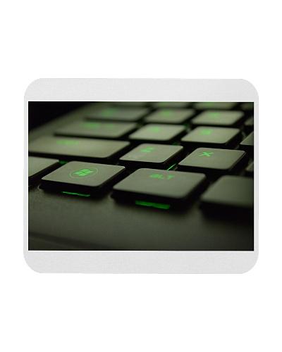 green keyboard pad