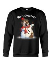 Merry Christmas Bulldog Snowmen Tshirt Crewneck Sweatshirt thumbnail