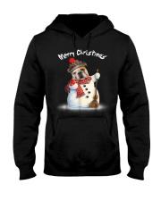 Merry Christmas Bulldog Snowmen Tshirt Hooded Sweatshirt thumbnail