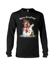 Merry Christmas Bulldog Snowmen Tshirt Long Sleeve Tee thumbnail