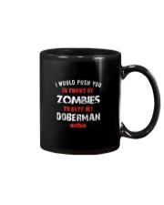 Lover Push To Save My Doberman From Zombie Shirt F Mug thumbnail
