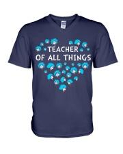 Teacher of all things V-Neck T-Shirt thumbnail