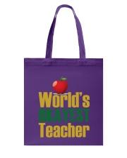 World's Okayest Teacher Tote Bag thumbnail