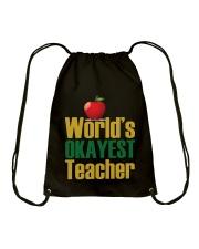 World's Okayest Teacher Drawstring Bag thumbnail