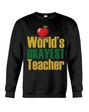 World's Okayest Teacher Crewneck Sweatshirt thumbnail