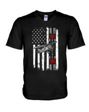 In Thrust We Trust V-Neck T-Shirt thumbnail