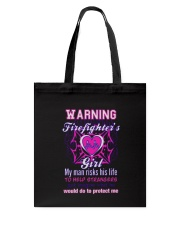 Firefighters Girl Tote Bag thumbnail