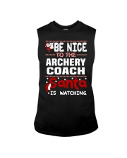 archery coach santa christmas Sleeveless Tee thumbnail