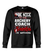 archery coach santa christmas Crewneck Sweatshirt thumbnail