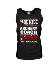 archery coach santa christmas Unisex Tank thumbnail