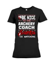 archery coach santa christmas Premium Fit Ladies Tee thumbnail