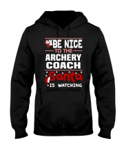 archery coach santa christmas Hooded Sweatshirt thumbnail