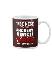 archery coach santa christmas Mug thumbnail
