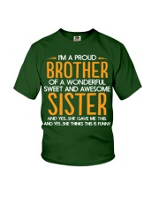 I Am A Proud Brother Of A Freaking Awesome Sister  Youth T-Shirt thumbnail