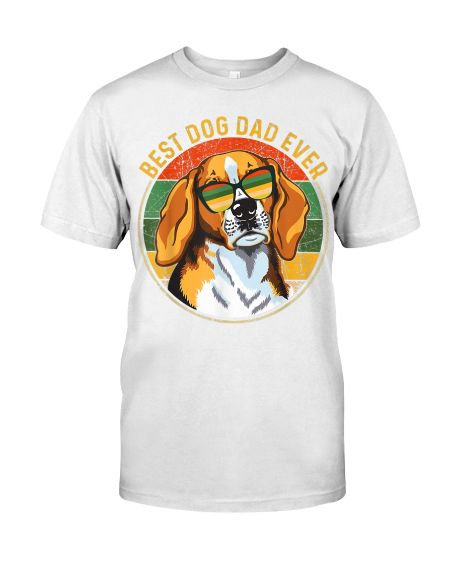 Mens Best Dog Dad Ever Retro Vintage Classic T-Shirt