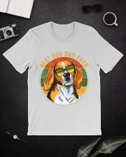 Mens Best Dog Dad Ever Retro Vintage Classic T-Shirt lifestyle-mens-crewneck-front-16