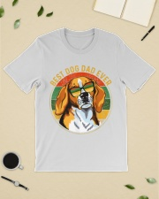 Mens Best Dog Dad Ever Retro Vintage Classic T-Shirt lifestyle-mens-crewneck-front-19