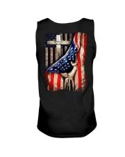 Cross Christ American Flag Unisex Tank thumbnail