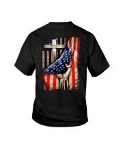 Cross Christ American Flag Youth T-Shirt thumbnail