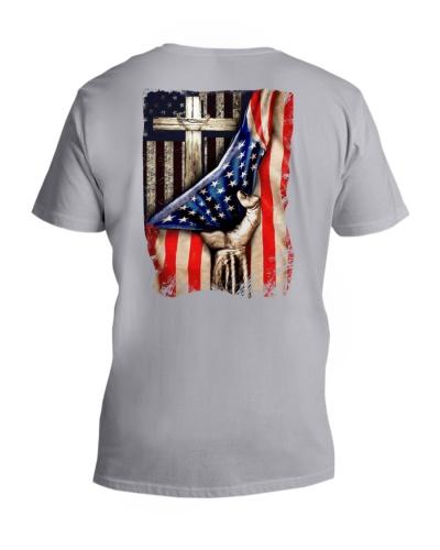 Cross Christ American Flag