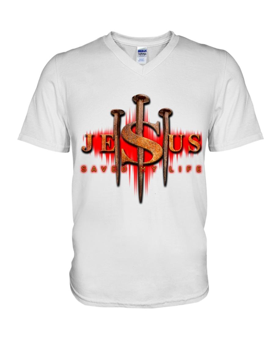 Jesus Saved My Life V-Neck T-Shirt