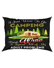 CAMPING AND WINE Rectangular Pillowcase tile