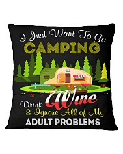 CAMPING AND WINE Square Pillowcase back