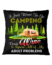 CAMPING AND WINE Square Pillowcase front