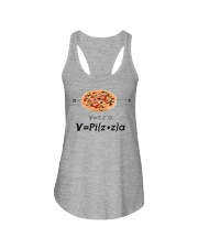 Pizza Math Ladies Flowy Tank tile